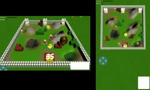 Mobile mock screenshots of landscape and portrait